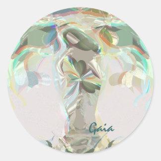 Gaia Mother Earth Round Sticker