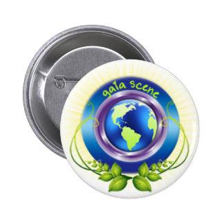 Gaia Scene Round Button White