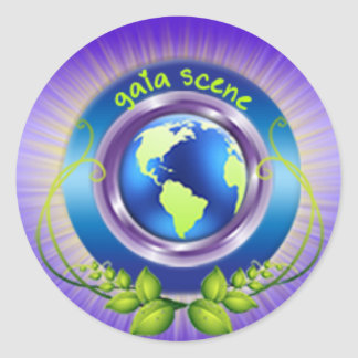 Gaia Scene Round Glossy Sticker