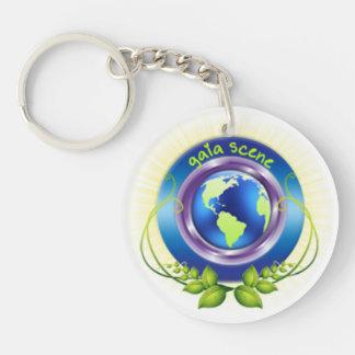Gaia Scene Round Keychain