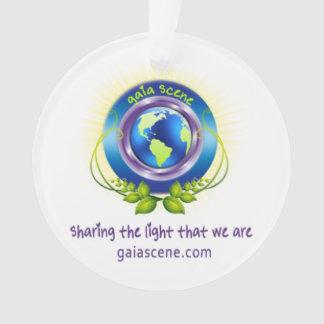 Gaia Scene Round Ornament