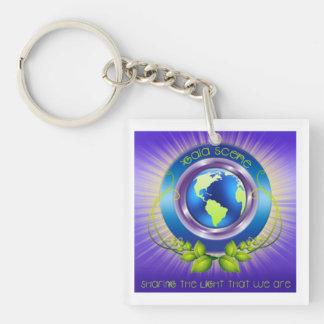 Gaia Scene Square Key Chain