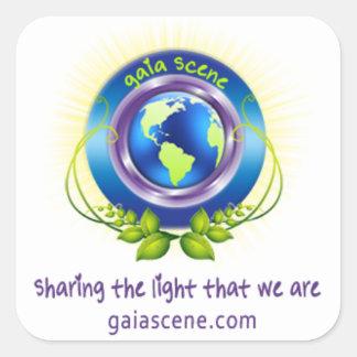 Gaia Scene Square Stickers