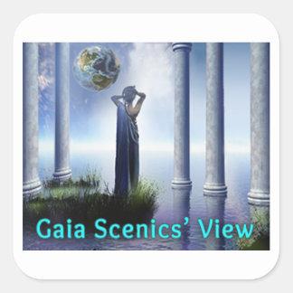 Gaia Scenics' View Square Sticker