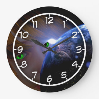 Gaia watching over the planet wall clocks