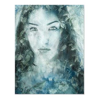 Gaia Watercolour 11 Cm X 14 Cm Invitation Card