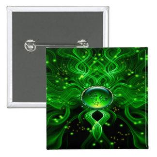 Gaia's Life Stream 15 Cm Square Badge