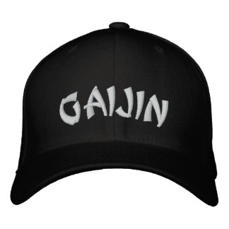 Gaijin  外人 embroidered hats