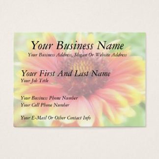 Gaillardia Bloom Up Close Business Card