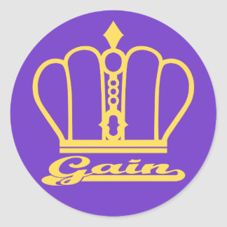 Gain decal classic round sticker