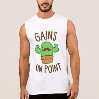 Gains On Point (Cactus Pun) Sleeveless Shirt