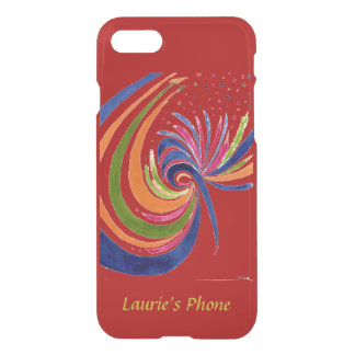 Gaity in Red -Abstract in Watercolor Your Name iPhone 7 Case