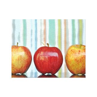 Gala Apples, Multi-coloured Stripes Canvas Print