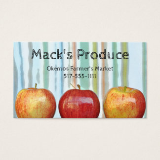 Gala apples stripes Produce Farmer Teacher Business Card