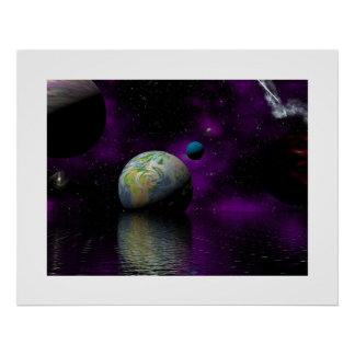 Galactic Billiards Poster