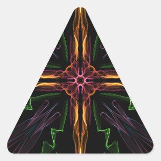Galactic Cross Triangle Sticker