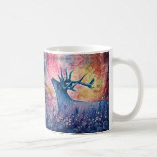 Galactic Elk Painting Coffee Mugs