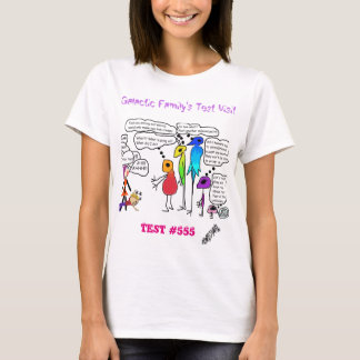 Galactic Family Doing a Test Visit Cartoon T-shirt