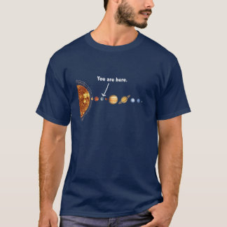 Galactic map dark  t T-Shirt