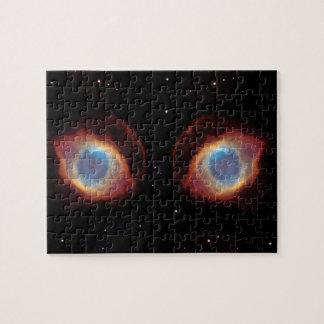 Galactic Nebula Eyes Jigsaw Puzzle