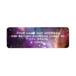 Galactic Outer Space Purple Return Address Label
