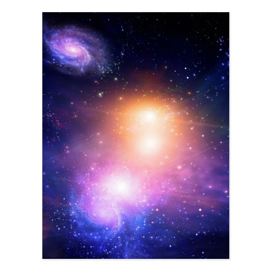 Galactic Space Postcard