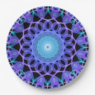 Galactic Web Mandala 9 Inch Paper Plate