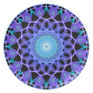 Galactic Web Mandala Plate