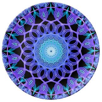 Galactic Web Mandala Porcelain Plates