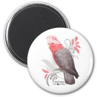 Galah Cockatoo 6 Cm Round Magnet