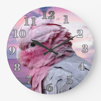 Galah Cockatoo Round Wall Clock