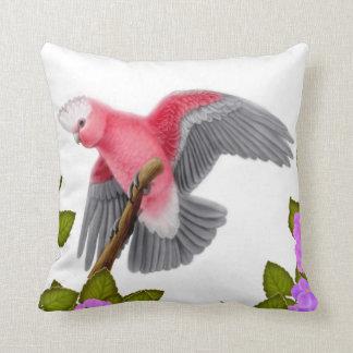Galah Pink Cockatoo Pillow Throw Cushions