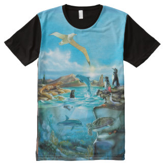 Galapagos Animals All-Over Print T-Shirt