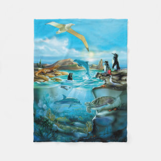 Galapagos Animals Small Fleece Blanket