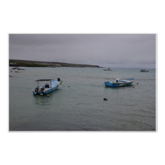 Galapagos - At anchor in Port Ajora Poster
