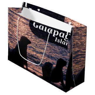 Galapagos Island Poster Large Gift Bag