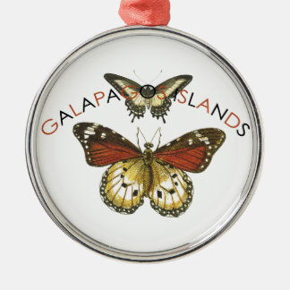 Galapagos Islands Butterfly Metal Ornament