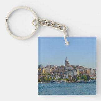 Galata Tower in Istanbul Turkey Key Ring