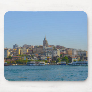 Galata Tower in Istanbul Turkey Mouse Pad