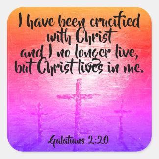 Galatians 2:20 Christian Bible Scripture Stickers