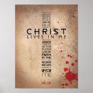 Galatians 2:20 poster