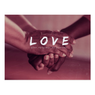 Galatians 5:14 - Love your neighbor Postcard