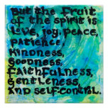 Galatians 5:22 - The Fruit of the Spirit Poster
