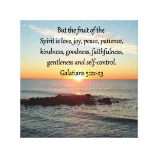 GALATIANS 5 FRUITS OF THE SPIRIT CANVAS PRINT
