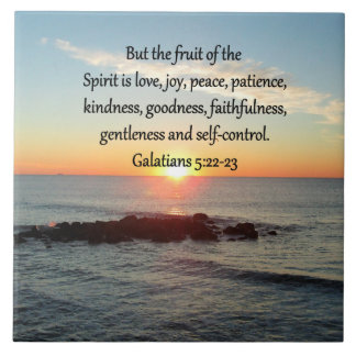 GALATIANS 5 FRUITS OF THE SPIRIT LARGE SQUARE TILE