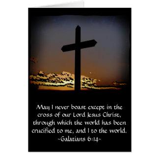 Galatians 6:14 card