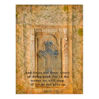 Galatians 6:9 Inspirational Bible verse KINDNESS Postcard