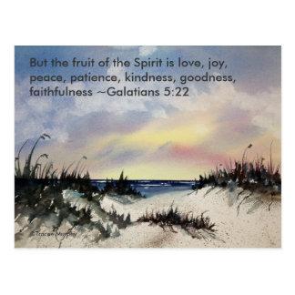 Galations 5:22 Bible Verse Postcard
