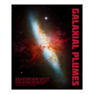 Galaxial Plumes Poster