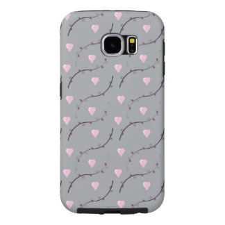 Galaxy6 phone case in hearts